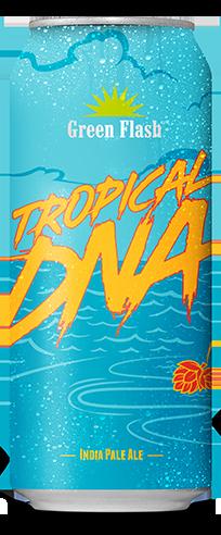 Tropical DNA beer bottle