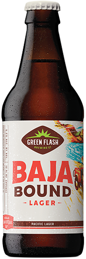 Baja Bound Lager beer bottle
