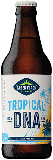 Tropical DNA beer bottle
